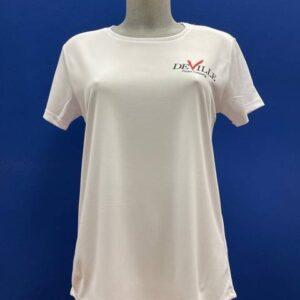 maglietta padel donna bianca